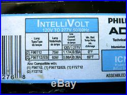 PHILIPS ADVANCE ICN-2P60-N Electronic Ballast, T12 Lamps, 120v 277v For 2 F96T12