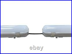 Paint Spray Booth LED Light Fixture 4' commercial grade Bright White 6250 Lumens