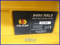 Pelican 9490 RALS Remote Area Lighting System with Extra Battery Fully Tested