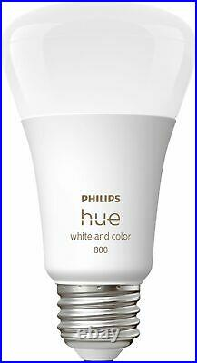 Philips Hue White & Color Ambiance A19 Bluetooth LED Smart Bulbs (3-Pack)