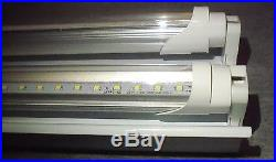 (QTY 4) 4 FT LED Light Fixture With T8 LED Bulbs Shop And Garage Clear Bulbs