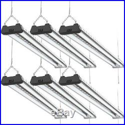 Sunco 6 Pack LED Industrial Shop Light 40W (260W) 6000K Daylight Deluxe 4000 lm