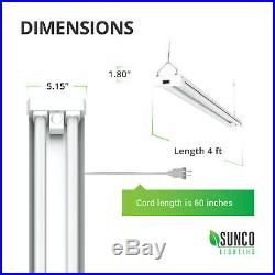 Sunco 8 Pack LED Utility Shop Light Motion-Activated 40W (260W) 5000K Daylight