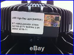 UFO 200W LED High Bay Light UL cUL DLC 25500LM MEANWELL IP65 PHILIPS Dimmable