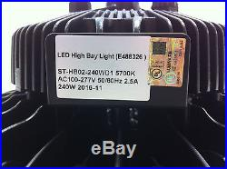UFO 240W LED High Bay Light UL cUL DLC 32000LM MEANWELL IP65 PHILIPS-LED OUTDOOR