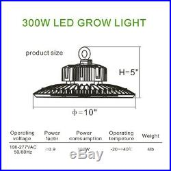 UFO LED 300W Grow Light Grow Tent Kit Complete Package Setup Indoor Plant Grow