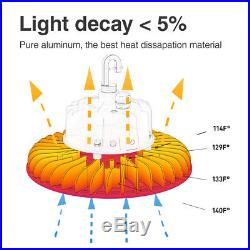 White 150W 5000K LED High Bay Light UFO Fixture Dimmable Warehouse Shop Lamp
